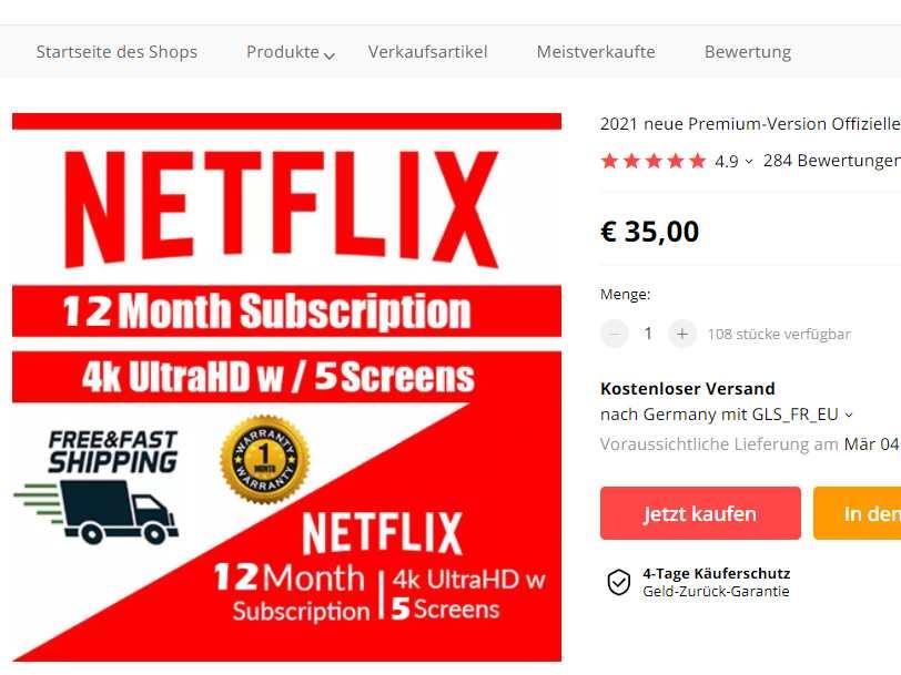 Netflix Premium für 35 Euro pro Jahr?!?
